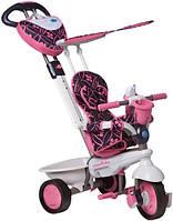 Велосипед  3-х колесный с ручкой и корзиной  Smart Trike 4в1 Seria Dream Touch Steering розовый
