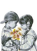 Канва с рисунком Давай дружить