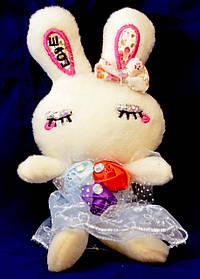 Брелок заяц в платье