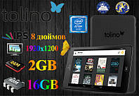 НЕМЕЦКИЙ Игровой Планшет Tolino tab 8 IPS 1920x1200 intel 64-bit 2GB RAM!