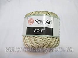 Пряжа Violet YarnArt 100% бавовна беж світлий № 4660