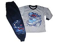 Пижама трикотажная с начёсом для мальчиков, размеры 98/104 арт. 1/987