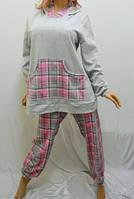 Домашний костюм с капюшоном,пижама на байке большого размера
