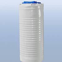 Емкость пластиковая для воды 200 литров узкая, вертикальный, 1 слой,
