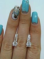 Серьги серебряные с фианитами, фото 1