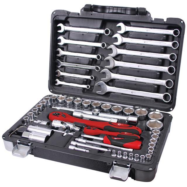 Intertool ЕТ-6061 Профессиональный набор инструментов 1/4″ & 1/2″ 61ед