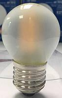 Лампа светодиодная филамент (Filament) G45 E27, 4 Вт. матовая