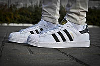 Кроссовки женские Adidas Superstar White Black