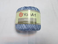 Пряжа Violet YarnArt 100% бавовна голубий (лаванда) № 0058