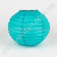 Бумажный подвесной фонарик, бирюзовый, 40 см