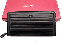 Мужской кошелек Salvatore Ferragamo (F-7116) black leather