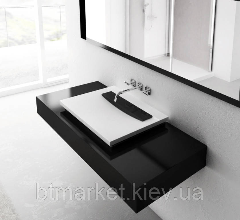 Умывальник Marmorin Tatoo (с черной плиткой)