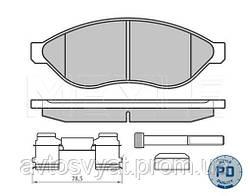 Колодки тормозные передние Citroen Jumper/Fiat Ducato/Peugeot Boxer 1.1/1.5t, 06-