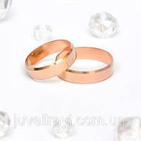Золотые обручальные кольца Европейка 2.42, 143406, 17