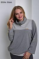 Женская кофта с высоким воротником (батальные размеры) d-6151033