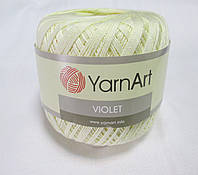 Пряжа Violet YarnArt 100% бавовна молочний № 0326