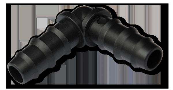 Колено 20 мм, зубчатое для трубки