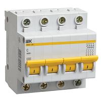 Выключатель автоматический 4П, 10А, характеристика С, ИЭК ВА47-29, MVA20-4-010-C