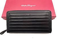 Мужской кошелек Salvatore Ferragamo (F-7116) black leather