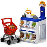 Игровой набор  Супермаркет Deluxe KEENWAY, (касса, сканер, тележка)