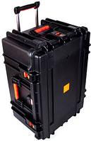 Прочный пластиковый кейс на двух колесах MIRKOCASE 604230 черный