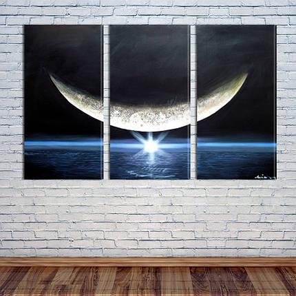 "Модульная картина ""Луна"", фото 2"