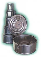 Коробка стерилизационная круглая с фильтром КСКФ-9 (Объем 9 дм3, Диаметр 275мм)