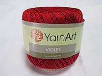 Пряжа Violet YarnArt 100% бавовна червоний чтемний   № 5020