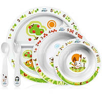 Столовый набор Avent посуды с рисунком