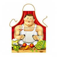 РАСПРОДАЖА! Прикольный фартук - Мужичек с морковкой / Sexy man Boteros style