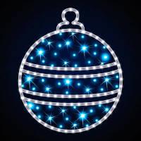 Светодиодная конструкция Голубой шар LUMIERE 0.6*0.68м