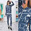 Женский модный костюм из ангоры: мастерка на молнии и брюки (расцветки)