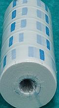 Etto Подворотничок парикмахерский бумажный, голубой, пластмассовая втулка, 500 шт.