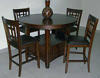 Барный комплект стол барный B-4866-PPB и 4 барных стула 760APU-L