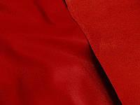 Кожа на замше (красный) (арт. 0813) отрез 0,7 + 0,7 м