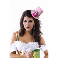 Очаровательная розовая шляпка цилиндрик
