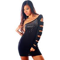Роскошное черное откровенное платье