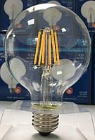 Лампа светодиодная филамент (Filament) G80 E27, 10 Вт.