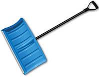 Лопата-плуг для уборки снега с алюминиевым профилем и металлическим черенком