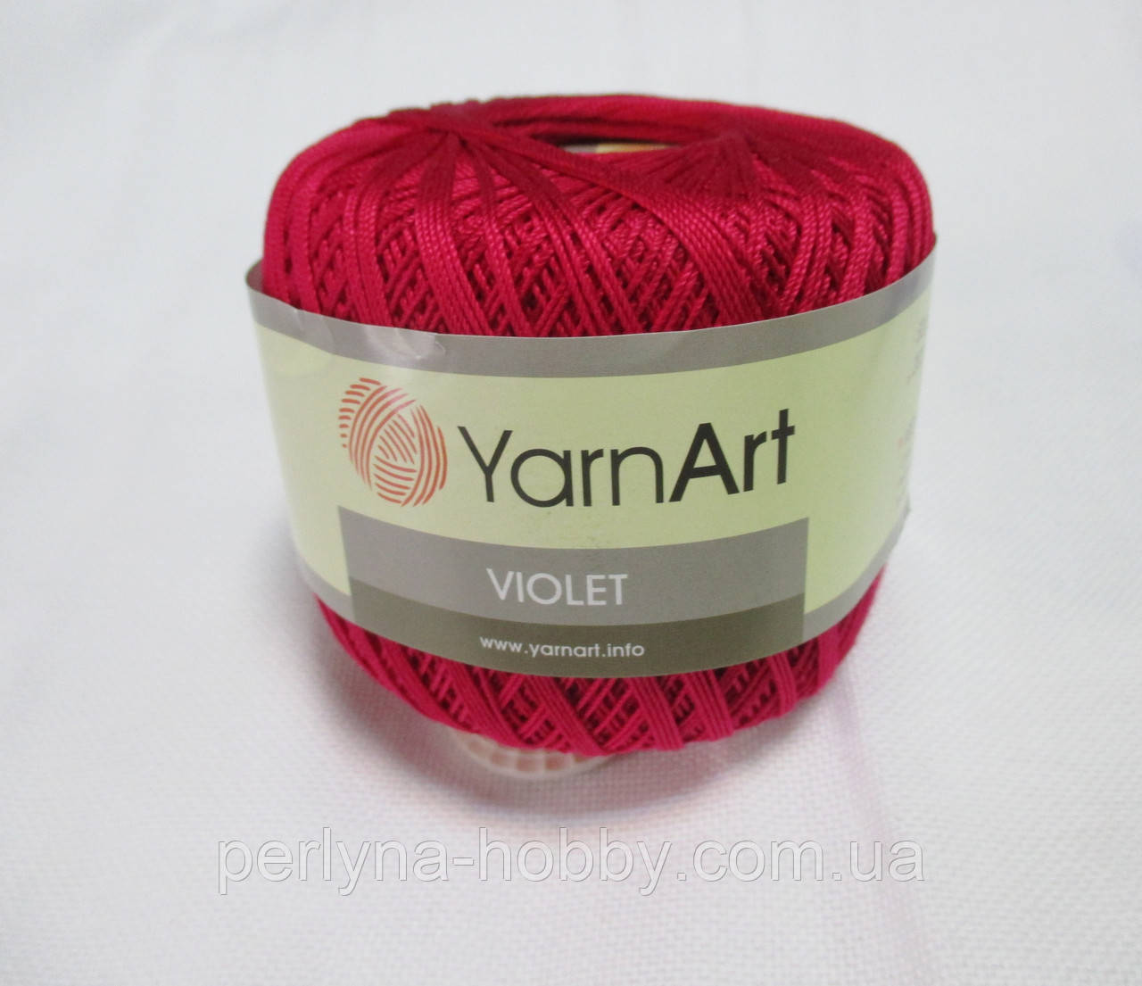 Пряжа Violet YarnArt 100% бавовна малиновий № 6358