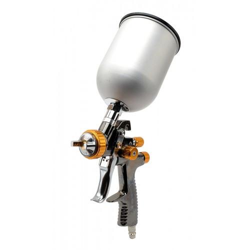 LVLP BRONZE NEW Профессиональный краскораспылитель 1.8мм, верхний металлический бачок 600мл., mах 1 PT-0135