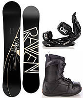 Комплект сноуборд Raven Element + крепления для сноуборда Raven s250 + ботинки для сноуборда Raven Target II