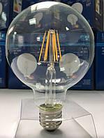 Лампа светодиодная филамент (Filament) G95 E27, 10 Вт.