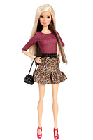 Кукла Барби Модница Barbie Fashionista Barbie Doll Leopard Print Skirt