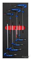 Набор отверток с т-образной ручкой в ложементе, 7 предметов AmPro