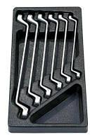 Набор гаечных ключей (8X9-18X19 мм) в ложементе, 6 предметов, AmPro