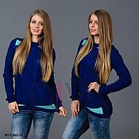 Свитер женский с узором косичка  W11-563-10 купить красивый свитер женский