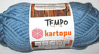 Пряжа Kartopu Темпо, серо-голубая