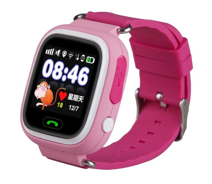 Детские умные часы Q90 с GPS трекером и функцией телефона - Pink