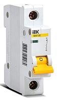 Выключатель автоматический 1П, 6А, характеристика В, ИЭК ВА47-29, MVA20-1-006-B
